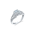 .55ct Simon G Diamond 18k White Gold Engagement Ring Setting