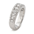 1.15ct Diamond Platinum Wedding Band Ring