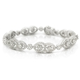 5.88ct Diamond 18k White Gold Bracelet