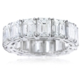 12.07ct Diamond Platinum Eternity Wedding Band Ring