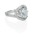 1.16ct Diamond Antique Style 18k White Gold Halo Engagement Ring Setting