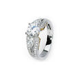 .85ct Simon G Diamond Antique Style 18k Two Tone Gold Engagement Ring Setting