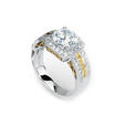 .38ct Simon G Diamond Antique Style 18k Two Tone Gold Halo Engagement Ring Setting