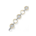 Simon G Diamond 18k Two Tone Gold Bracelet
