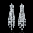 18.75ct Diamond 18k White Gold Chandelier Earrings