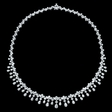 24.64ct Diamond 18k White Gold Necklace