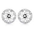 .32ct Diamond 18k White Gold Earring Jackets