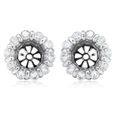 1.32ct Diamond 18k White Gold Earring Jackets