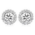 .24ct Diamond 18k White Gold Earring Jackets