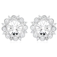 .53ct Diamond Antique Style 18k White Gold Earring Jackets