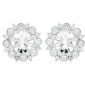 Diamond Antique Style 18k White Gold Earring Jackets