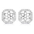 .26ct Diamond 18k White Gold Earring Jackets