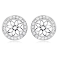 .33ct Diamond Antique Style 18k White Gold Earring Jackets