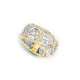 .34ct Simon G Diamond Antique Style 18k Two Tone Gold Floral Wedding Band Ring