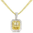 1.16ct Diamond Antique Style 18k Two Tone Gold Pendant