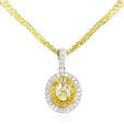1.20ct Diamond Antique Style 18k Two Tone Gold Pendant