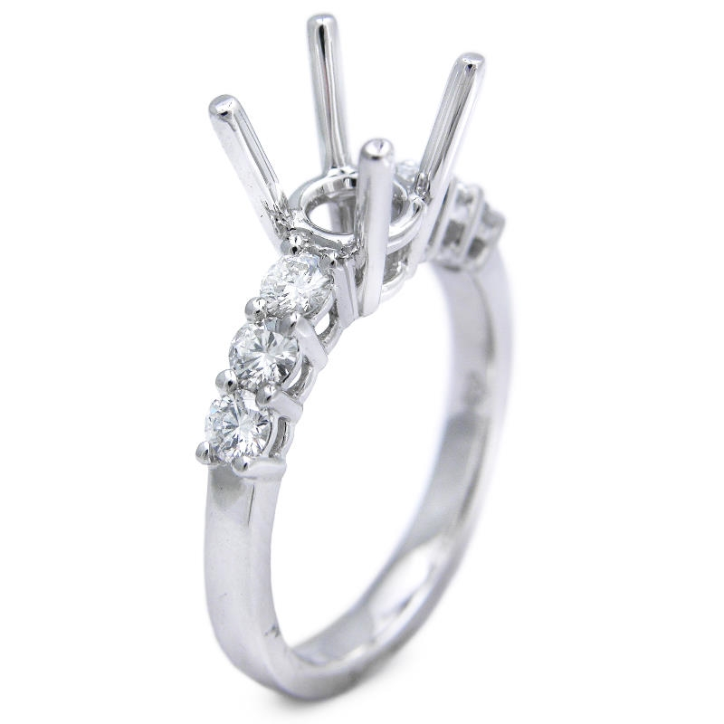 50ct platinum engagement ring mounting