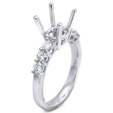 .50ct Diamond Platinum Engagement Ring Mounting