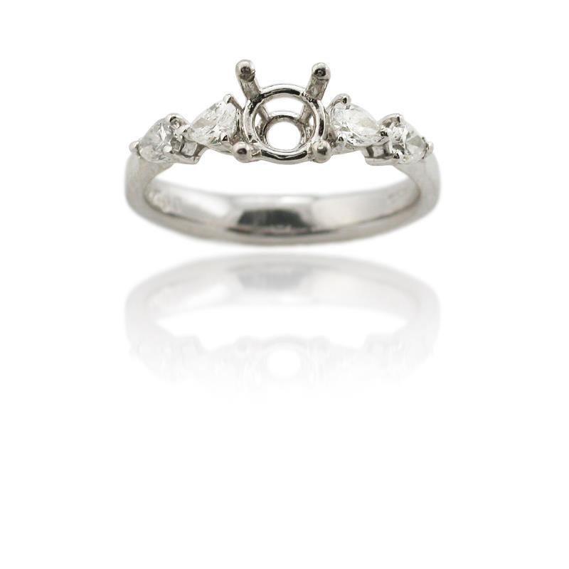 49ct platinum engagement ring mounting