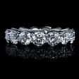 6.19ct Diamond Platinum Eternity Wedding Band Ring