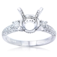 .46ct Diamond Antique Style Platinum Engagement Ring Setting