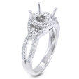 .35ct Diamond Platinum Halo Engagement Ring Setting