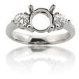 .48ct Diamond 18k White Gold Engagement Ring Mounting