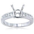 .28ct Diamond Antique Style Platinum Engagement Ring Setting