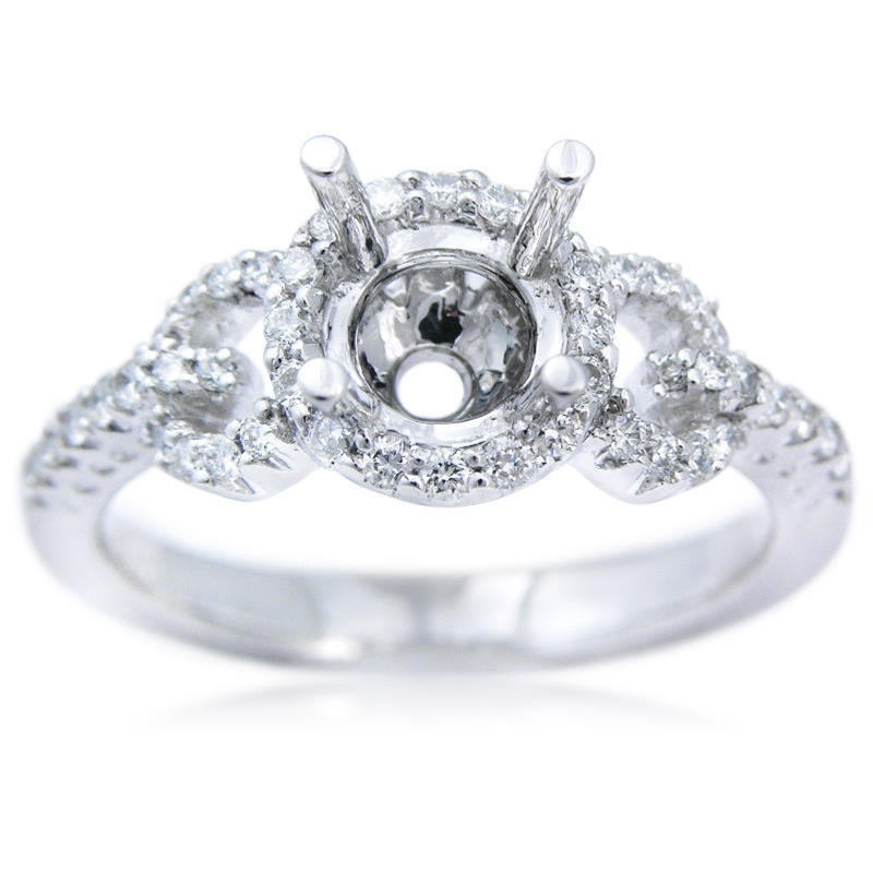 35ct Diamond Platinum Engagement Ring Setting