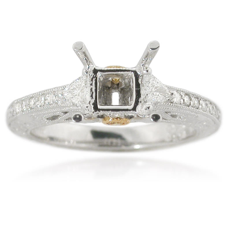 34ct antique style platinum and 18k yellow gold