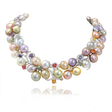 4.52ct Stardust Diamond, Sapphire, and Pearl 18k White Gold Necklace