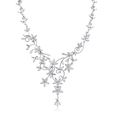 7.63ct Diamond 18k White Gold Floral Necklace