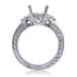 .53ct Diamond Antique Style Platinum Engagement Ring Setting