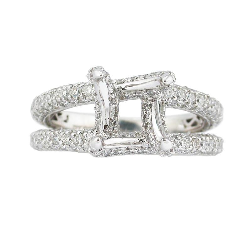 1 68ct platinum engagement ring mounting