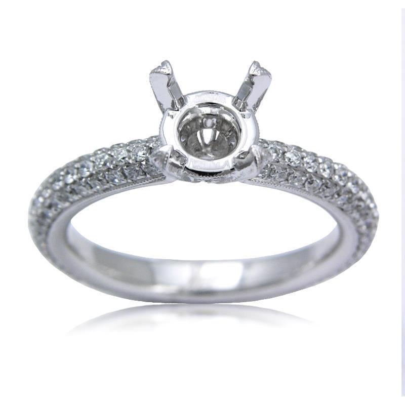 72ct antique style platinum engagement ring setting