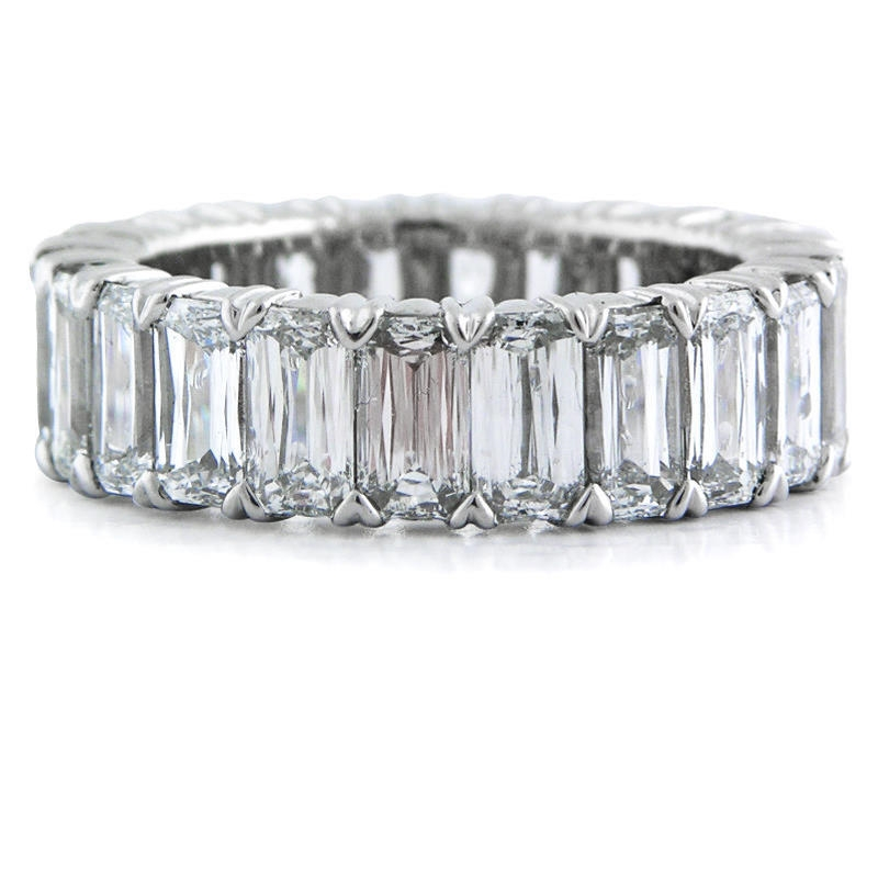 807ct Christopher Designs Diamond Platinum Eternity Wedding Band Ring