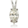 .52ct Diamond Solitaire 14k White Gold Pendant
