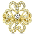 1.10ct Chad Allison Couture Diamond Antique Style 18k Yellow Gold Ring