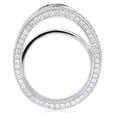 2.18ct Diamond Antique Style 18k White Gold Eternity Engagement Ring Setting