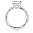 1.12ct Diamond Antique Style Platinum Engagement Ring Setting