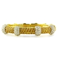 3.66ct G.Verdi Diamond and Yellow Sapphire 18k Yellow Gold Bangle Bracelet