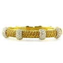 G.Verdi Diamond and Yellow Sapphire 18k Yellow Gold Bangle Bracelet