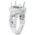 1.26ct Diamond Antique Style Platinum Halo Engagement Ring Setting