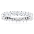 2.27ct Diamond 18k White Gold Eternity Wedding Band Ring