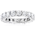 3.48ct Diamond Platinum Eternity Wedding Band Ring