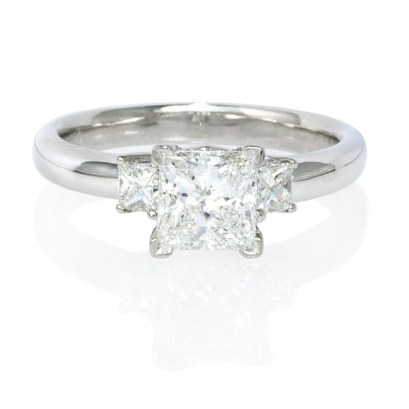 30ct Diamond Platinum Engagement Ring Setting