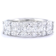 1.28ct Diamond Platinum Wedding Band Ring