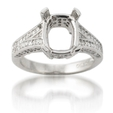 .74ct Diamond Antique Style Platinum Engagement Ring Setting