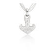 2.75ct Leo Pizzo Diamond 18k White Gold Anchor Pendant Necklace