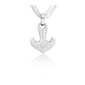 Leo Pizzo Diamond 18k White Gold Anchor Pendant Necklace